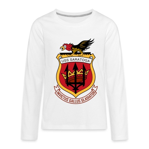 USS Saratoga CV60 - Kids' Premium Long Sleeve T-Shirt