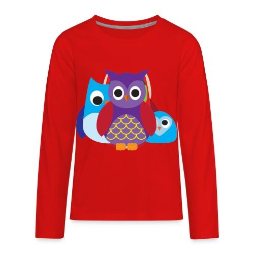 Cute Owls Eyes - Kids' Premium Long Sleeve T-Shirt