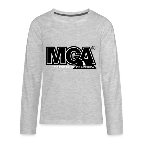 MCA Logo WBG Transparent BLACK TITLEfw fw png - Kids' Premium Long Sleeve T-Shirt