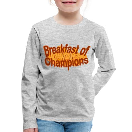 Breakfast of Champions - Kids' Premium Long Sleeve T-Shirt