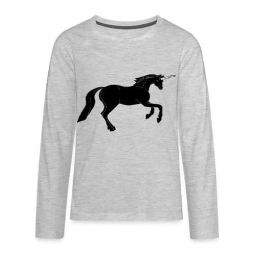 unicorn black - Kids' Premium Long Sleeve T-Shirt
