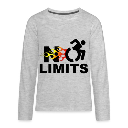 No limits for me with my wheelchair - Kids' Premium Long Sleeve T-Shirt
