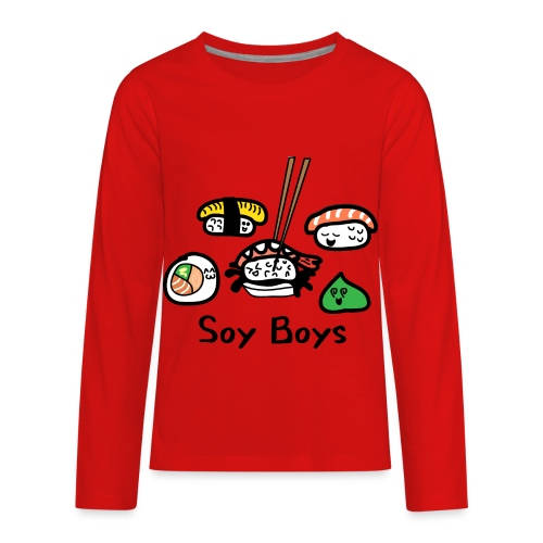 Soy Boys Kawaii Sushi - Anime / Manga Chibi Design - Kids' Premium Long Sleeve T-Shirt