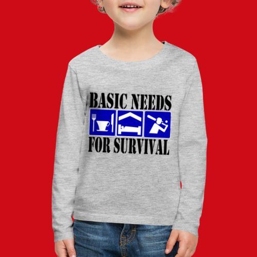 Softball/Baseball Basic Needs - Kids' Premium Long Sleeve T-Shirt
