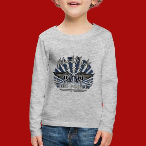 BloodShot Air Force with black - Kids' Premium Long Sleeve T-Shirt