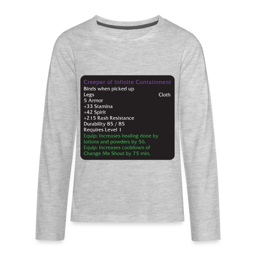 Warcraft Baby: Creeper of Infinite Containment - Kids' Premium Long Sleeve T-Shirt