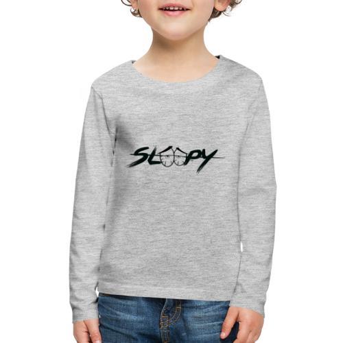 Sleepy Logo Black - Kids' Premium Long Sleeve T-Shirt