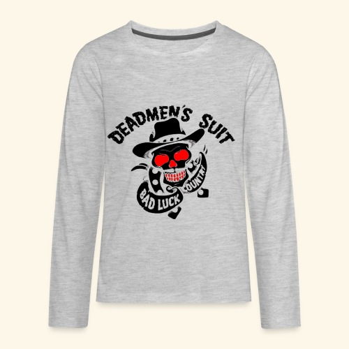 Deadmen's Suit Bad Luck#Skull - Kids' Premium Long Sleeve T-Shirt