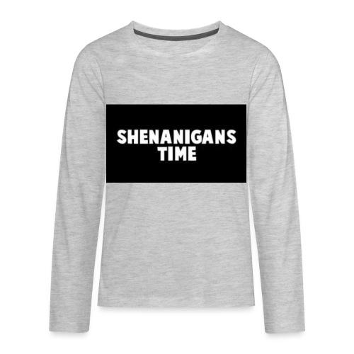 SHENANIGANS TIME MERCH - Kids' Premium Long Sleeve T-Shirt