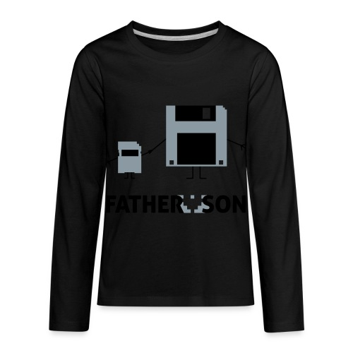 Father and Son - Kids' Premium Long Sleeve T-Shirt