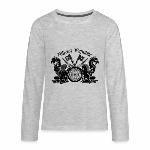 Atheist Republic Logo - Key Emblem - Kids' Premium Long Sleeve T-Shirt