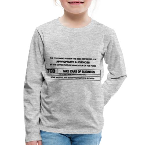 TCB Films Disclamer - Kids' Premium Long Sleeve T-Shirt