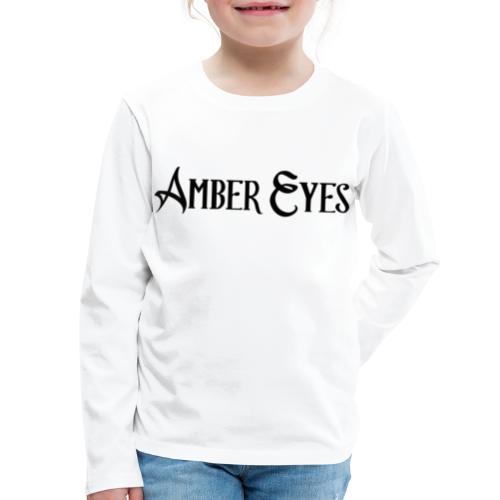 AMBER EYES LOGO IN BLACK - Kids' Premium Long Sleeve T-Shirt