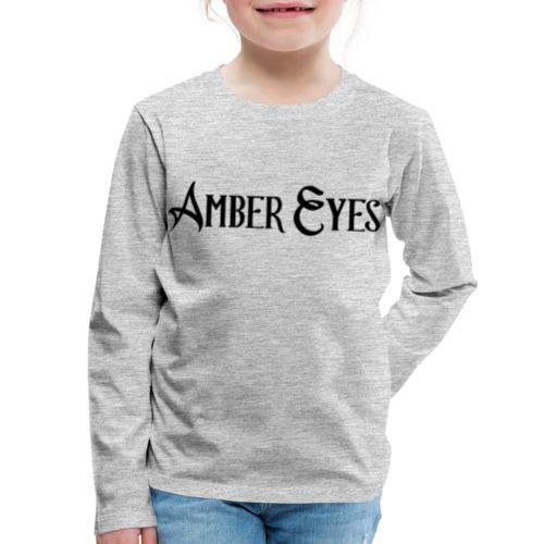AMBER EYES LOGO IN BLACK - Kids' Premium Long Sleeve T-Shirt