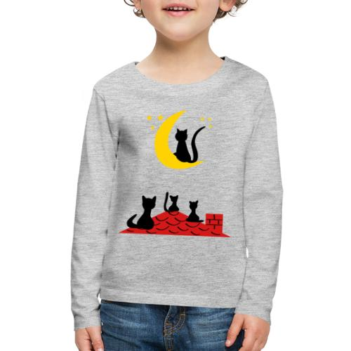 Cats on the roof - Kids' Premium Long Sleeve T-Shirt