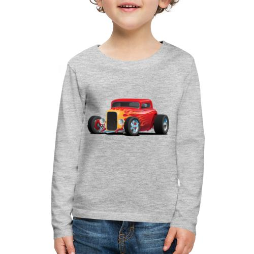 Classic Bold Red Custom Street Rod - Kids' Premium Long Sleeve T-Shirt