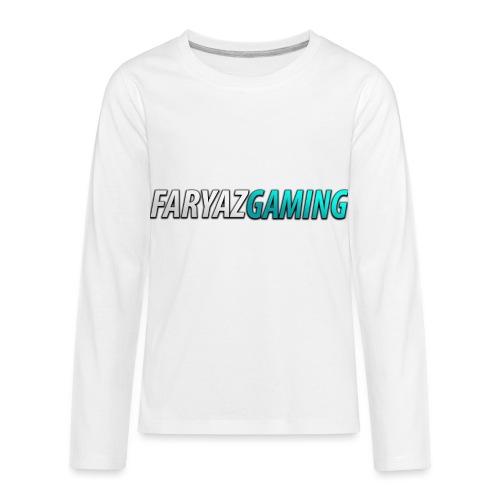 FaryazGaming Theme Text - Kids' Premium Long Sleeve T-Shirt