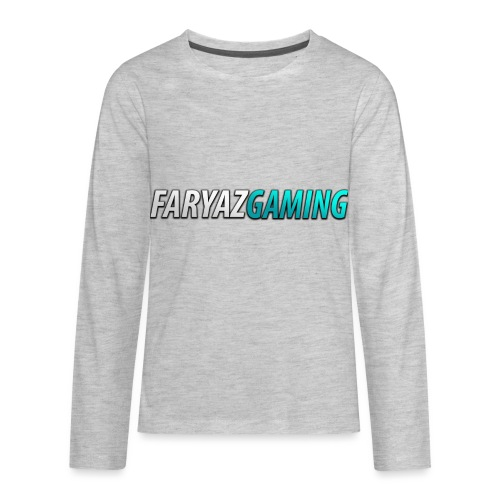 FaryazGaming Theme Text - Kids' Premium Long Sleeve T-Shirt