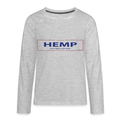 Hemp Makes America Great Again on White - Kids' Premium Long Sleeve T-Shirt