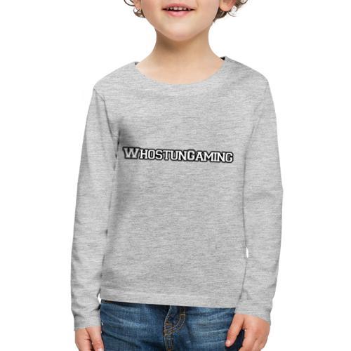 WhoStun Gaming Block college style - Kids' Premium Long Sleeve T-Shirt