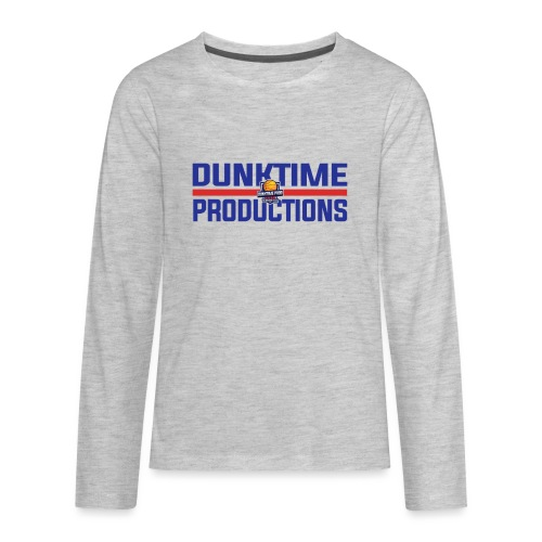 DUNKTIME Retro logo - Kids' Premium Long Sleeve T-Shirt