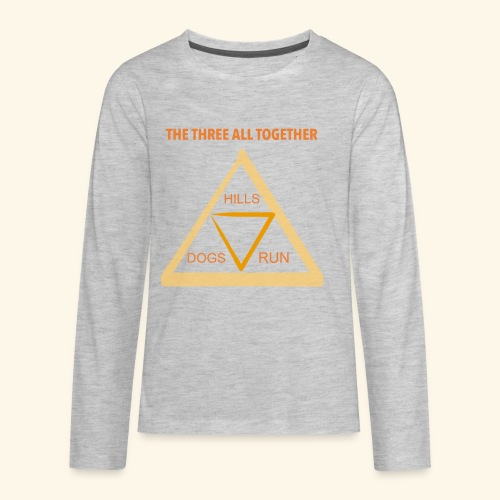Run4Dogs Triangle - Kids' Premium Long Sleeve T-Shirt