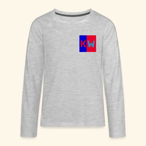 Kalani wipou logo shirt - Kids' Premium Long Sleeve T-Shirt