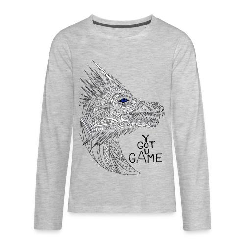 Blue eye dragon - Kids' Premium Long Sleeve T-Shirt