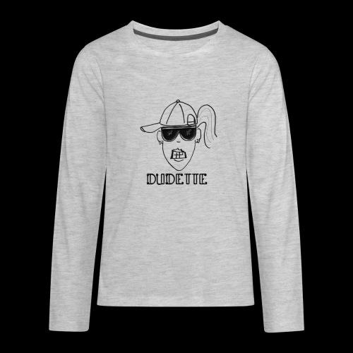 Dudette Head 2 - Kids' Premium Long Sleeve T-Shirt