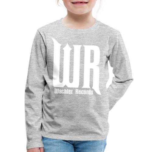 Wachler Records Light Logo - Kids' Premium Long Sleeve T-Shirt