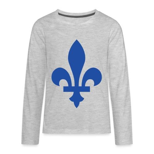 2000px Blue fleur de lis2 png - Kids' Premium Long Sleeve T-Shirt