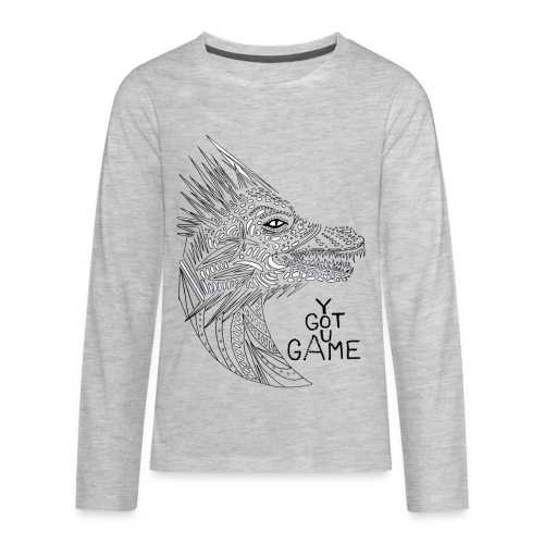 "Dragon ""you got game"" - Kids' Premium Long Sleeve T-Shirt"