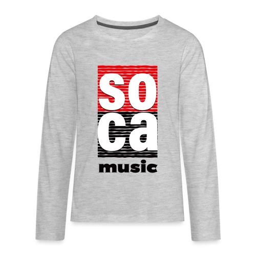 Soca music - Kids' Premium Long Sleeve T-Shirt