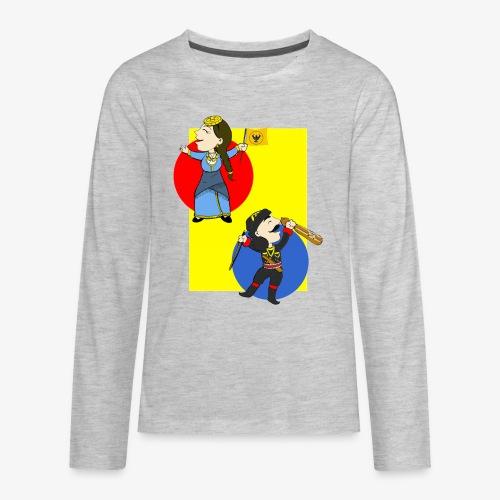 Cartoon - Pontios/lyra & Pontia/flag - Kids' Premium Long Sleeve T-Shirt