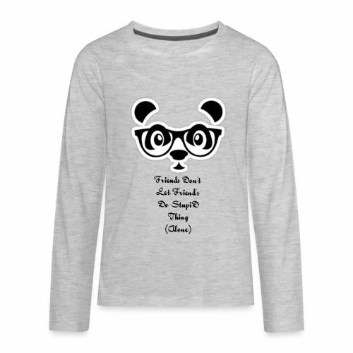 DirtyRagz Men's WWF Funny Panda Bear Wrestling T S - Kids' Premium Long Sleeve T-Shirt