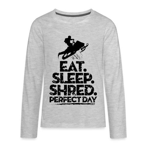 Snowmobile Eat Sleep - Kids' Premium Long Sleeve T-Shirt