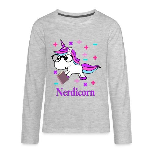 Nerdicorn! - Kids' Premium Long Sleeve T-Shirt