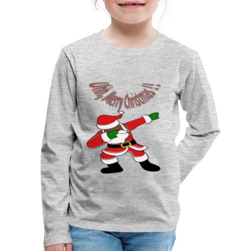Black Dabbing Santa Funny -TSHIRTFINDERS CHRISTMAS - Kids' Premium Long Sleeve T-Shirt