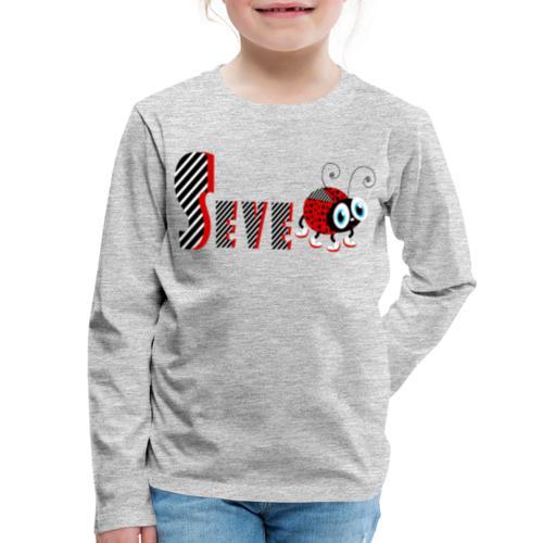 7nd Year Family Ladybug T-Shirts Gifts Daughter - Kids' Premium Long Sleeve T-Shirt