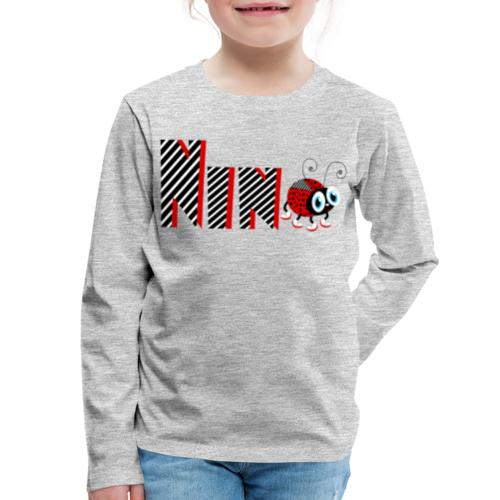 9nd Year Family Ladybug T-Shirts Gifts Daughter - Kids' Premium Long Sleeve T-Shirt