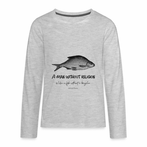 A man without religion! - Kids' Premium Long Sleeve T-Shirt