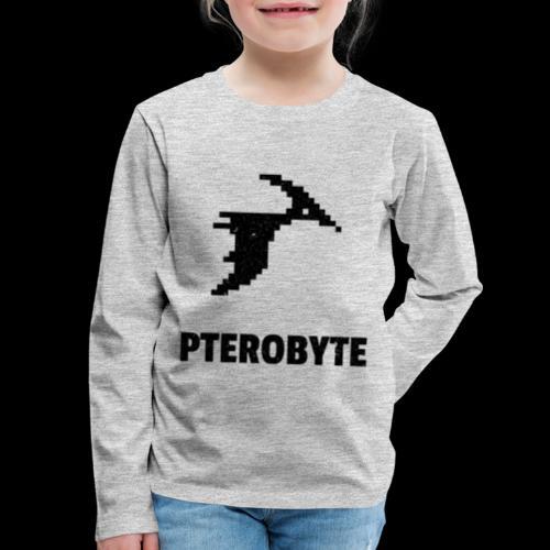 Pterobyte | Epic Digital Dinosaur - Kids' Premium Long Sleeve T-Shirt