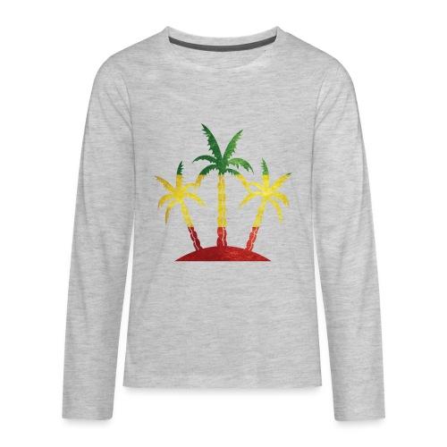 Palm Tree Reggae - Kids' Premium Long Sleeve T-Shirt