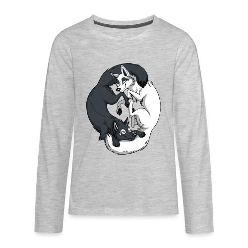 Yin Yang Foxes - Kids' Premium Long Sleeve T-Shirt