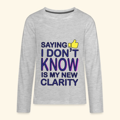 new clarity - Kids' Premium Long Sleeve T-Shirt