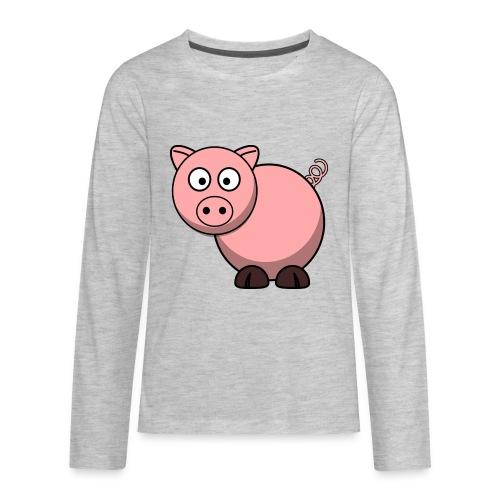 Funny Pig T-Shirt - Kids' Premium Long Sleeve T-Shirt