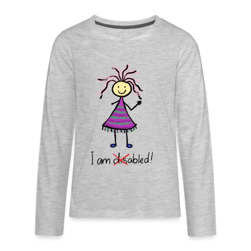 Kid with disability - I am able! Limb difference 2 - Kids' Premium Long Sleeve T-Shirt