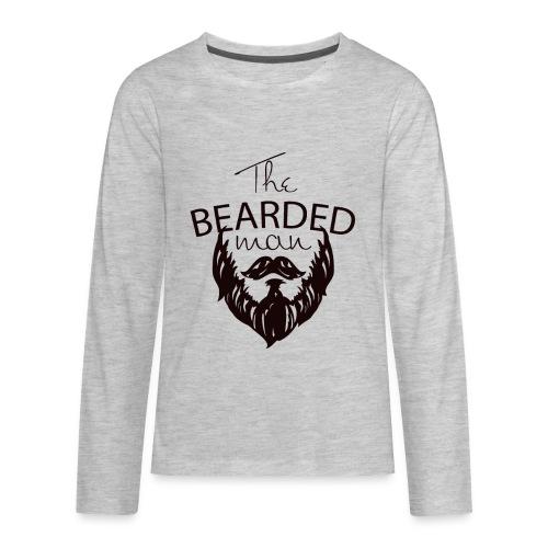 The bearded man - Kids' Premium Long Sleeve T-Shirt