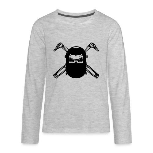 Welder Skull - Kids' Premium Long Sleeve T-Shirt