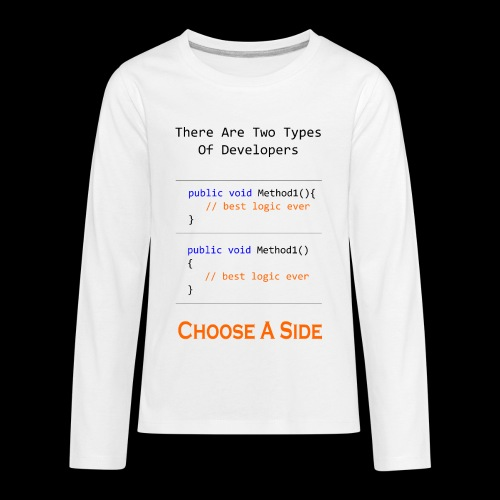 Code Styling Preference Shirt - Kids' Premium Long Sleeve T-Shirt